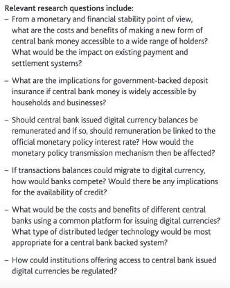 "A Central Bank ""cryptocurrency""? An interesting idea, but"
